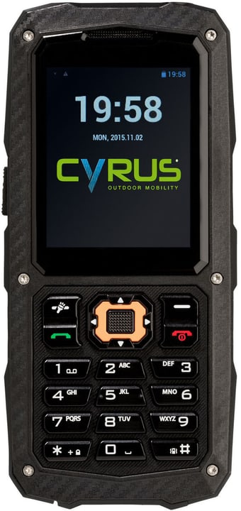CM8 Solid noir Dual Sim Mobiltelefon Cyrus 785300133123 Photo no. 1