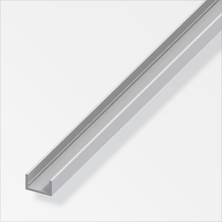 U-Profil 1.5 x 10 x 13.5 mm silberfarben 2 m alfer 605086300000 Art U-Profile Grösse a 10 mm x b 13.5 mm x c 1,5 mm x 1 m Bild Nr. 1