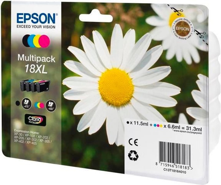 18XL Claria Home Multipack Tintenpatrone Tintenpatrone Epson 796088400000 Bild Nr. 1