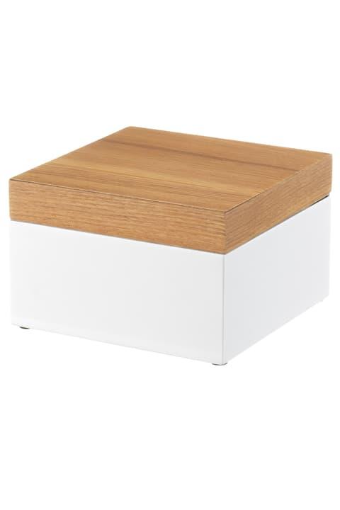 FONDA Boîte de rangement 440658901510 Couleur Brun clair, Blanc Dimensions L: 15.0 cm x P: 15.0 cm x H: 9.3 cm Photo no. 1
