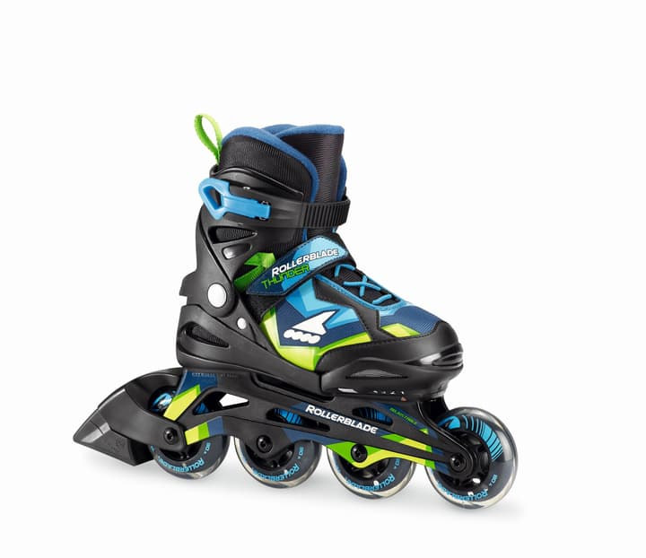 Thunder Kids-Inline Rollerblade 492385333640 Colore blu Taglie 33-38 N. figura 1