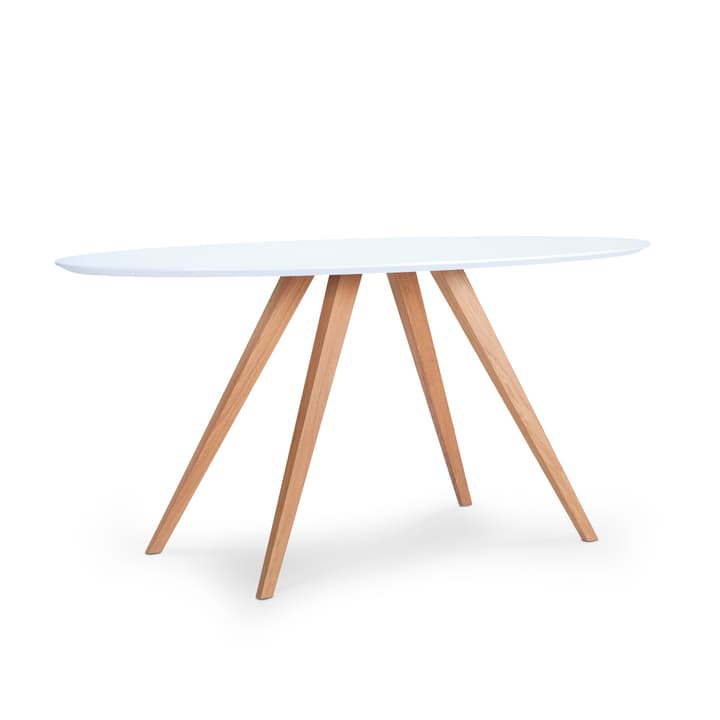 LORETTA table ovale 366181600000 Dimensions L: 200.0 cm x P: 100.0 cm x H: 74.0 cm Couleur Blanc Photo no. 1