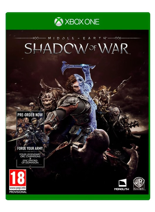 Xbox One - Middle-Earth Shadow of War Physique (Box) 785300122357 Photo no. 1