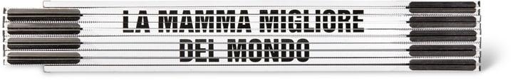 """Métre pliant """"LA MAMMA MIGLIORE DEL MONDO"""", WEISS/SCHWARZ"""" 603689700000 Photo no. 1"""