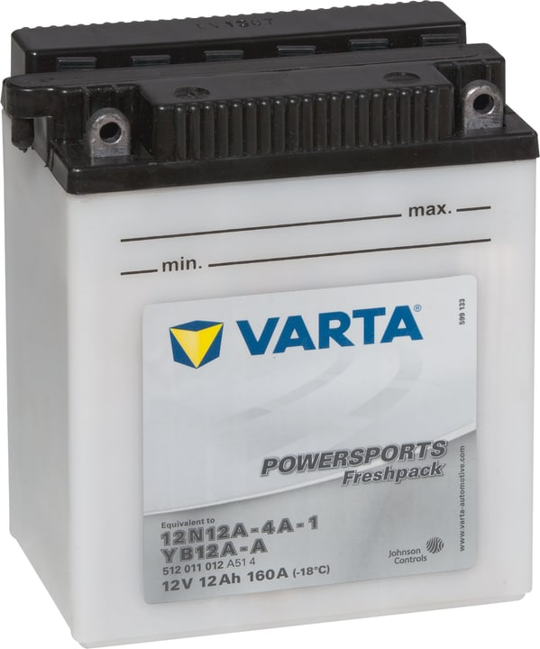 Motorradbatterie 12N12A-4A-1 /  YB12A-A 12V 12Ah 120A Varta 620453900000 Bild Nr. 1