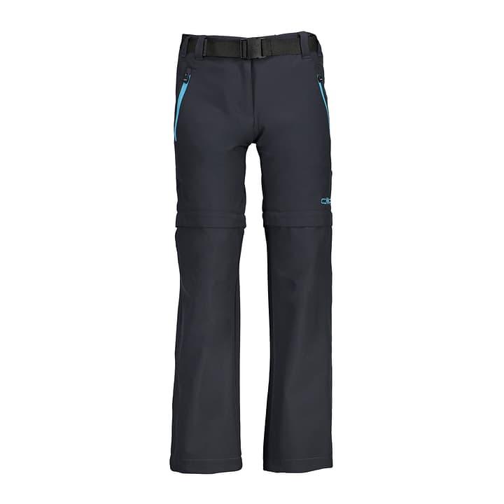 Pantalon Zipoff pour fille CMP 464545612886 Couleur antracite Taille 128 Photo no. 1