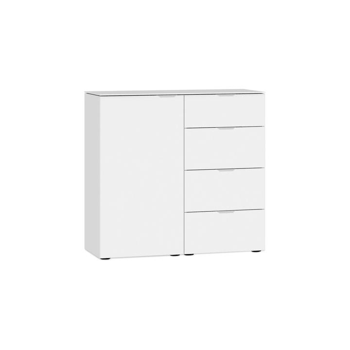 MILO Commode 364152400000 Couleur Blanc, verni brilliant Dimensions L: 90.0 cm x P: 43.0 cm x H: 87.0 cm Photo no. 1