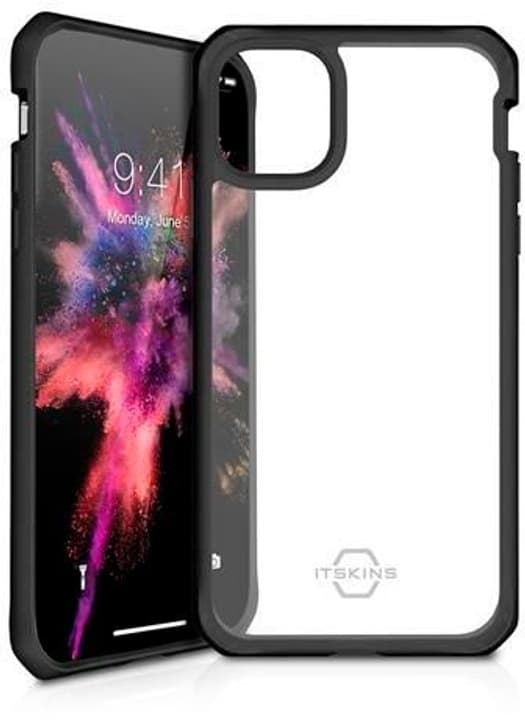 Hard Cover HYBRID SOLID plain black transparent Custodia ITSKINS 785300149356 N. figura 1