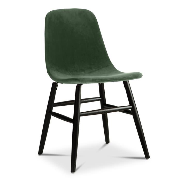 SEDIA Chaise 366187100000 Dimensions L: 45.0 cm x P: 41.0 cm x H: 87.5 cm Couleur Vert foncé Photo no. 1