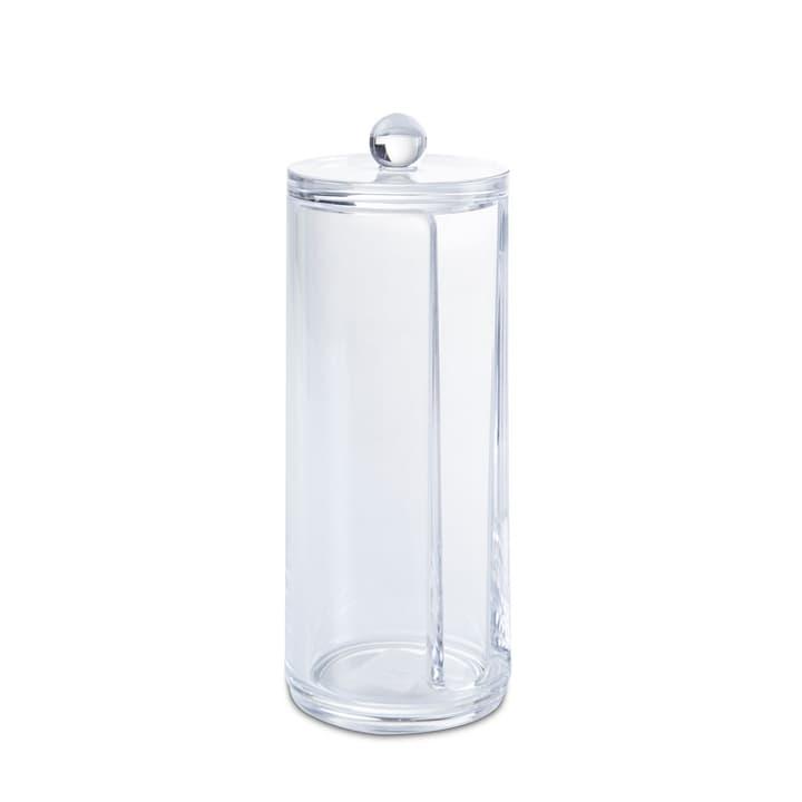 ABALA Boîte à rondelles de ouate 374014702445 Dimensions L: 7.5 cm x P: 7.5 cm x H: 19.7 cm Couleur Transparent Photo no. 1