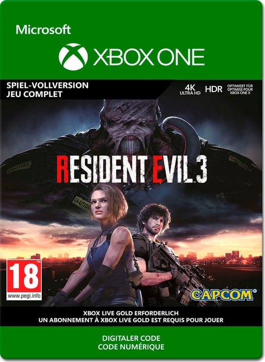 Xbox One - Resident Evil 3 ESD (Download) 785300151719 Photo no. 1