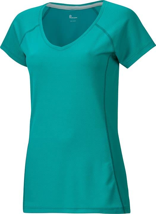 Damen-T-Shirt Perform 470150703815 Farbe smaragd Grösse 38 Bild-Nr. 1