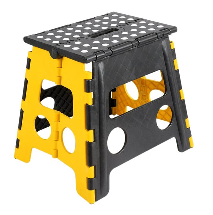Sgabello pieghevole giallo / nero 630907800000 N. figura 1