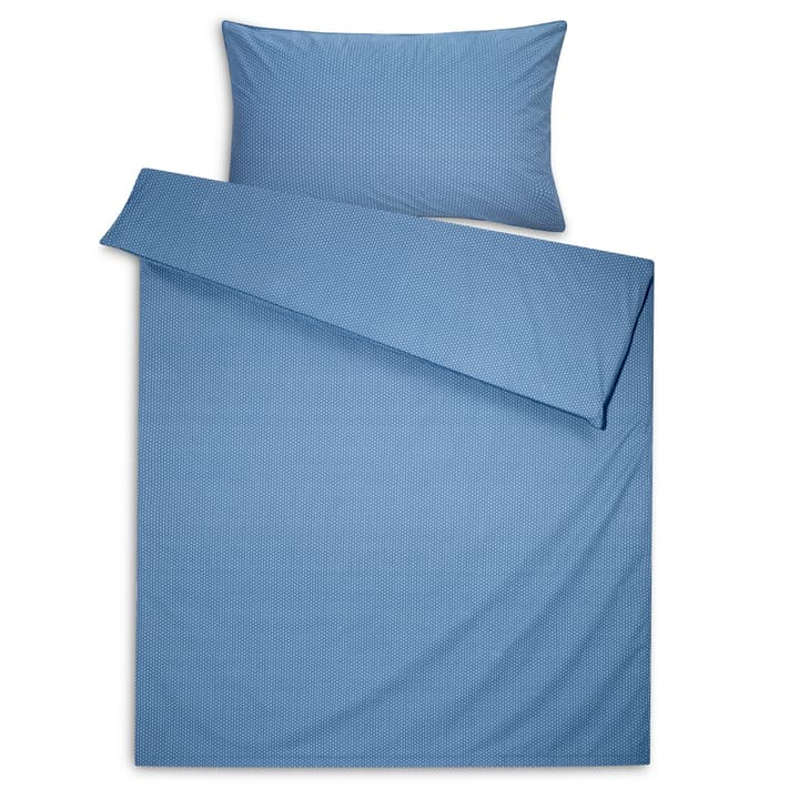 YASMIN Housse de couette percale 376072412540 Dimensions L: 210.0 cm x L: 200.0 cm Couleur Bleu Photo no. 1