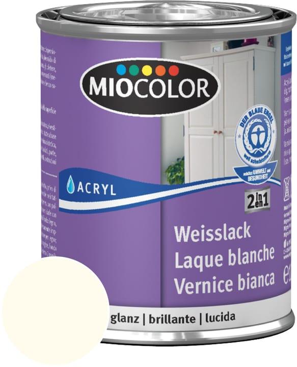 Laque acrylique blanche brillante Blanc 125 ml Miocolor 676771400000 Contenu 125.0 ml Couleur Blanc Photo no. 1