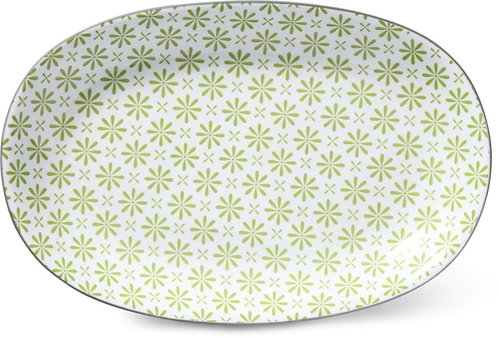 CUCINA & TAVOLA Plaque ovale Cucina & Tavola 703617200060 Couleur Vert, Blanc Dimensions L: 23.0 cm x P: 15.5 cm x H: 2.5 cm Photo no. 1