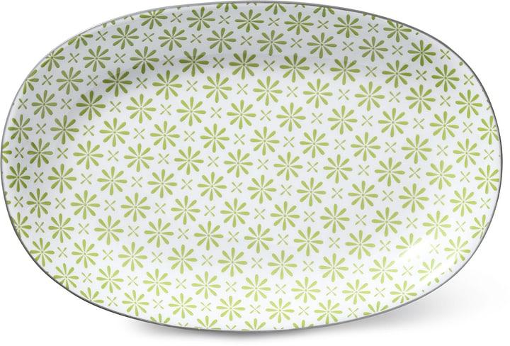 Assiette ovale Cucina & Tavola 703617200060 Couleur Vert, Blanc Dimensions L: 23.0 cm x P: 15.5 cm x H: 2.5 cm Photo no. 1