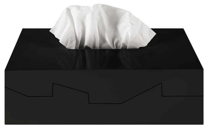 Papiertaschentuchbox spirella 675261400000 Farbe Schwarz Bild Nr. 1