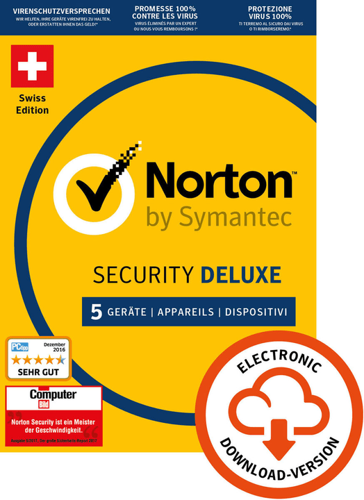 Norton Security Deluxe 3.0 5 User 1 Year PC/Mac/Andorid/iOS Digitale (ESD) Norton 785300133665 N. figura 1