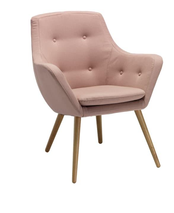 FLORIN Sessel 402441007039 Grösse B: 73.0 cm x T: 70.0 cm x H: 82.0 cm Farbe Hellrosa Bild Nr. 1