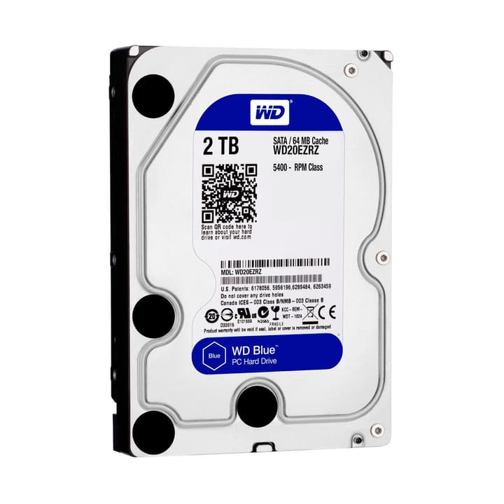 "Blue 2TB SATA 3.5"" HDD Intern Western Digital 785300126646 Bild Nr. 1"