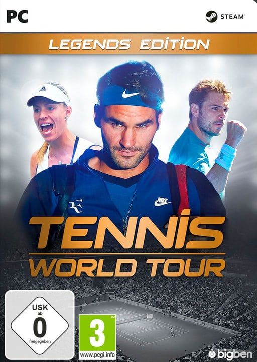 PC - Tennis World Tour - Legends Edition (D/F) Box 785300132958 N. figura 1