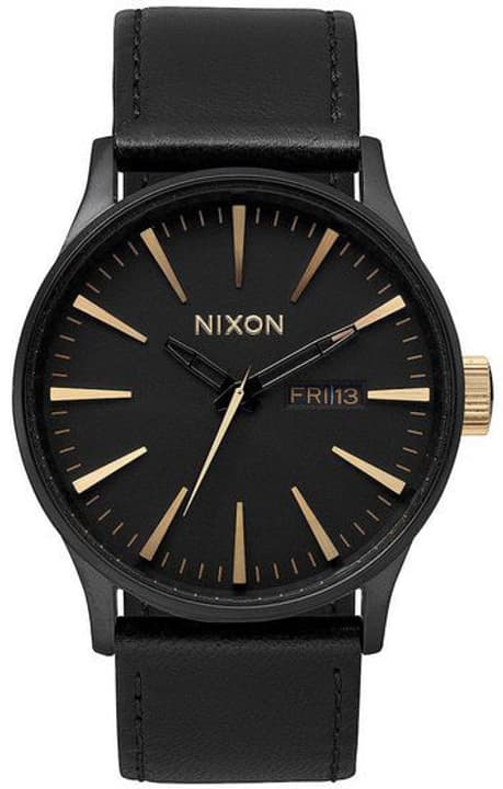 Sentry Leather Matte Black Gold 42 mm Orologio da polso Nixon 785300136954 N. figura 1