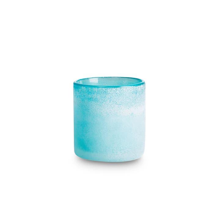 FROSTED Teelichthalter 396064900000 Grösse B: 8.0 cm x T: 8.0 cm x H: 9.0 cm Farbe Pastellblau Bild Nr. 1