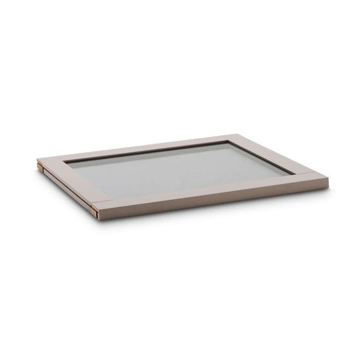 MILO Mensola con struttura in vetro affumicato 364063100000 Dimensioni L: 48.4 cm x P: 53.0 cm x A: 2.2 cm Colore Nocciola N. figura 1