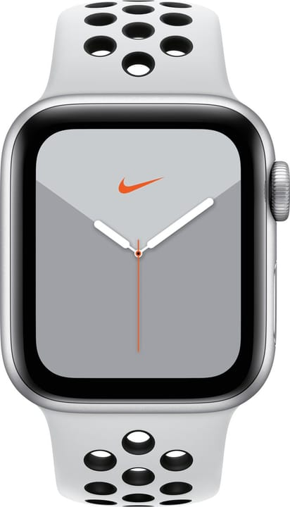 Watch Nike Series 5 GPS 40mm silver Aluminium Pure Platinum Black Nike Sport Band Smartwatch Apple 785300146967 Photo no. 1