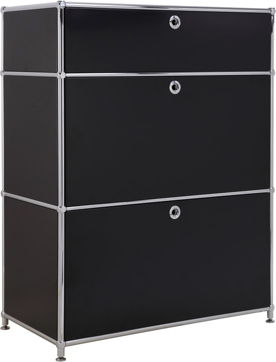 FLEXCUBE Sideboard 401814710220 Grösse B: 77.5 cm x T: 40.0 cm x H: 100.0 cm Farbe Schwarz Bild Nr. 1