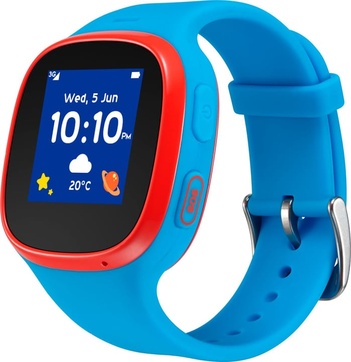 Movetime Family Watch MT30 (3G) Blue + Red Smartwatch Alcatel 798440500000 Bild Nr. 1
