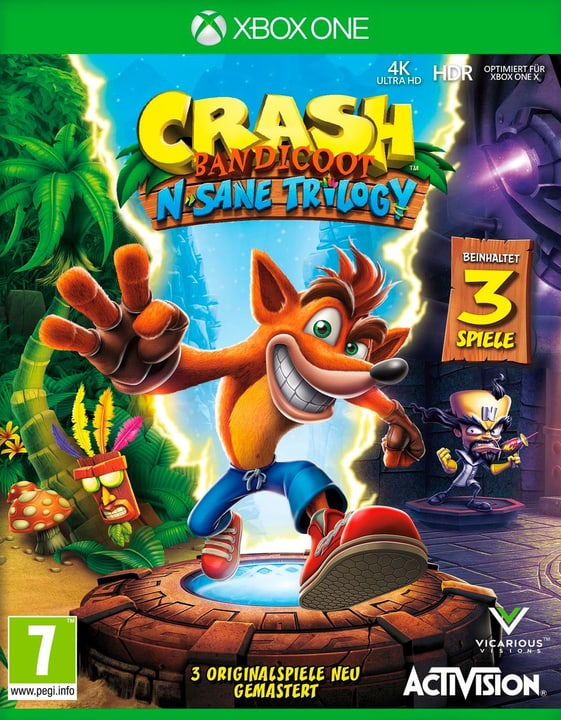 Xbox One - Crash Bandicoot N. Sane Trilogy Box 785300133455 Sprache Deutsch Plattform Microsoft Xbox One Bild Nr. 1