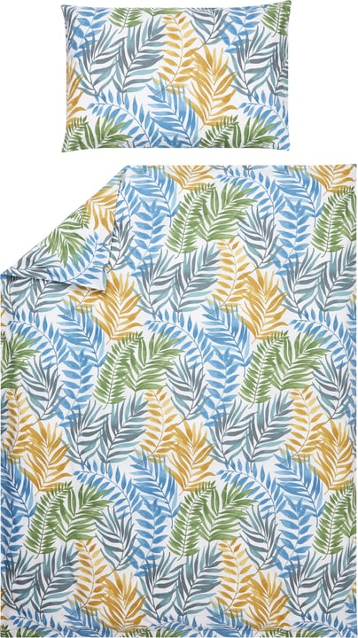 ERIC Perkal-Kissenbezug 451193610660 Farbe Grün Grösse B: 65.0 cm x H: 65.0 cm Bild Nr. 1