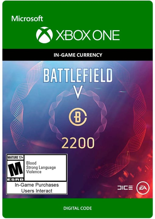 Xbox One - Battlefield V Currency 2200 Download (ESD) 785300141682 N. figura 1
