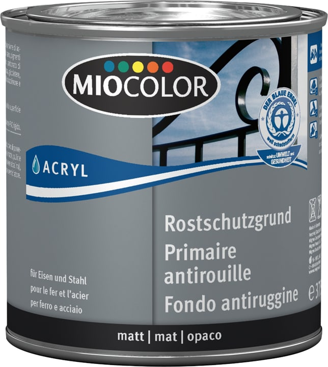 Acryl Rostschutzgrund Grau 375 ml Miocolor 660561700000 Farbe Grau Inhalt 375.0 ml Bild Nr. 1