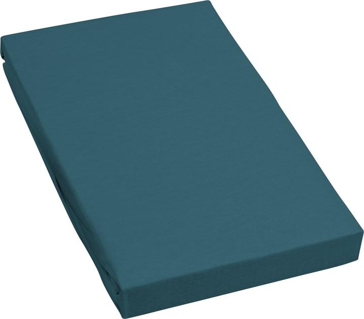 MARC Jersey-Fixleintuch 451056731040 Farbe Blau Grösse B: 90.0 cm x H: 200.0 cm Bild Nr. 1