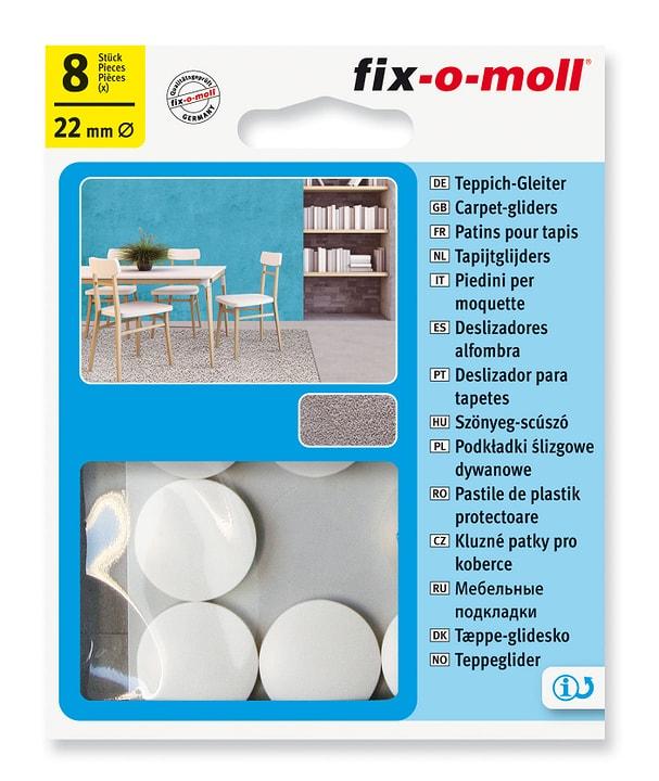 Piedini per moquette Ø 22 mm 8 x Fix-O-Moll 607084100000 N. figura 1