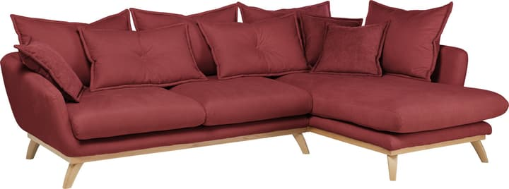 AMSEL Canapé d'angle 405735150030 Couleur Rouge Dimensions L: 275.0 cm x P: 180.0 cm x H: 67.0 cm Photo no. 1