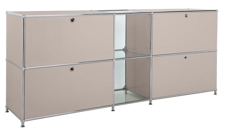 FLEXCUBE Sideboard 401814320288 Grösse B: 189.0 cm x T: 40.0 cm x H: 80.5 cm Farbe Taupe Bild Nr. 1