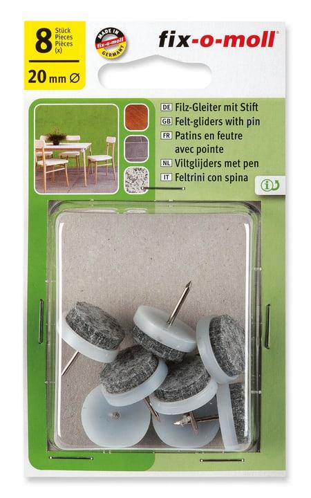 Piedini di feltro con chiodo 4 mm / Ø 20 mm 8 x Fix-O-Moll 607069500000 N. figura 1