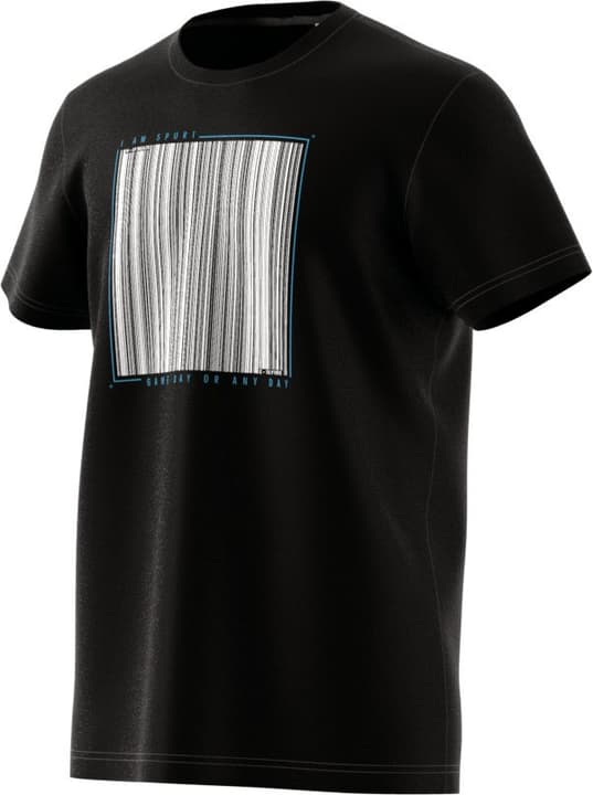 Barcode Tee T-shirt pour homme Adidas 462377600320 Couleur noir Taille S Photo no. 1