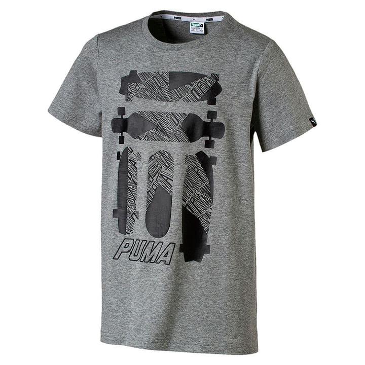 Skate Graphic Tee T-shirt pour garçon Puma 464533112880 Couleur gris Taille 128 Photo no. 1