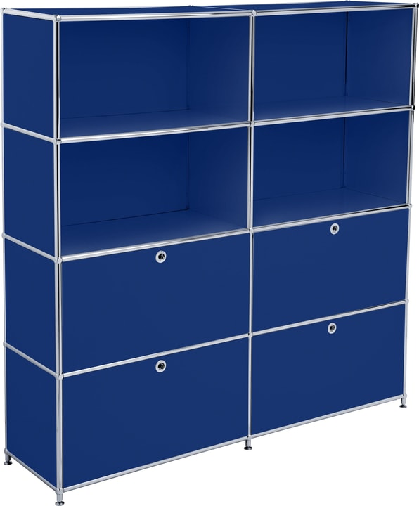 FLEXCUBE Regal 401815120440 Grösse B: 152.0 cm x T: 40.0 cm x H: 155.5 cm Farbe Blau Bild Nr. 1