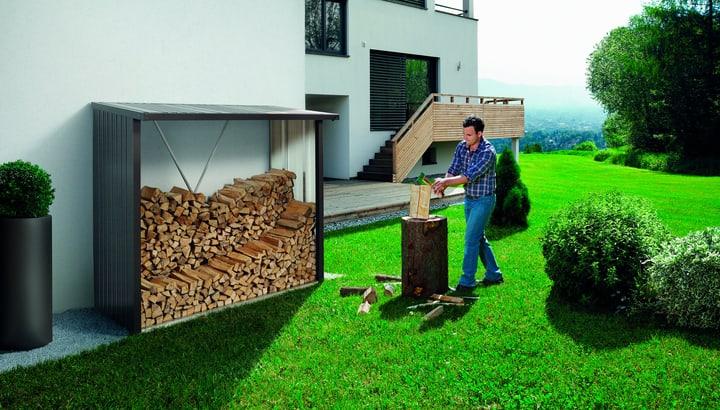Scaffale per la legna Wood Stock 230 Biohort 647182600000 Colore Grigio Scuro-Metallico N. figura 1