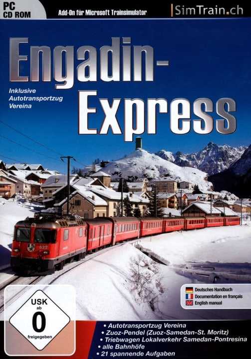 PC - Engadin-Express (Add-On für Trainsimulator) Physisch (Box) 785300127415 Bild Nr. 1