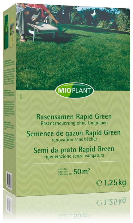 Semence de gazon Rapid Green, 50 m2 Mioplant 659289800000 Photo no. 1