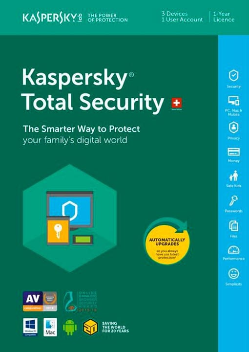 PC / Mac / Android Total Security Fisico (Box) Kaspersky 785300129045 N. figura 1