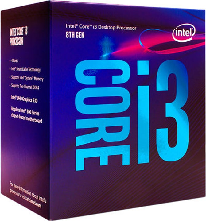 Intel Processeur i3-8100 4x 3.6 GHz 'Coffee Lake' Sockel LGA 1151 boxed