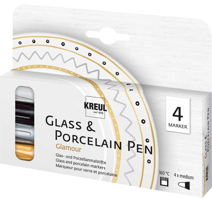 KREUL, glassporcelain pen galmour, set de 4 666788500000 Photo no. 1